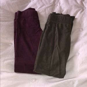 Two pairs aerie normal rise leggings
